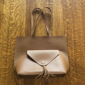 Custom Made tote with removable clutch